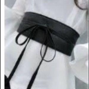 BCBG Generation Obi Style Black Belt. Sz XS/S